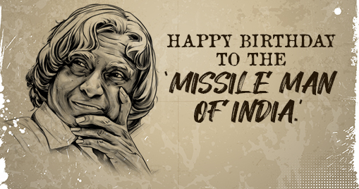 Happy Birthday to the 'Missile Man of India.'