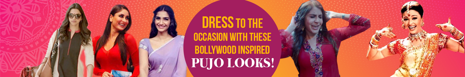 Dress to the occasion with these Bollywood inspired Pujo looks!