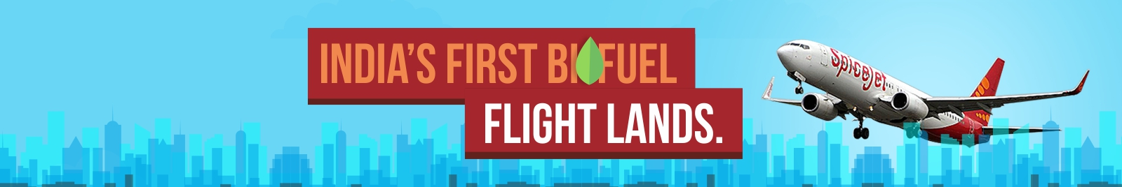 India's first biofuel flight lands