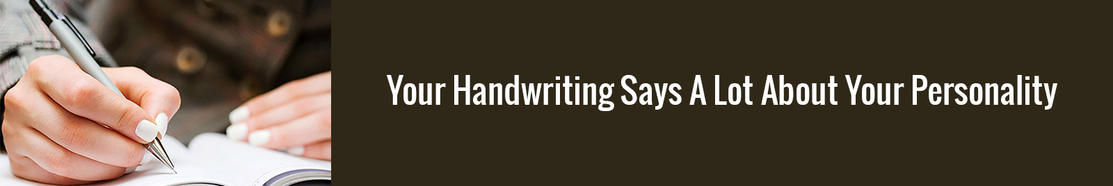 handwriting reflects your personality