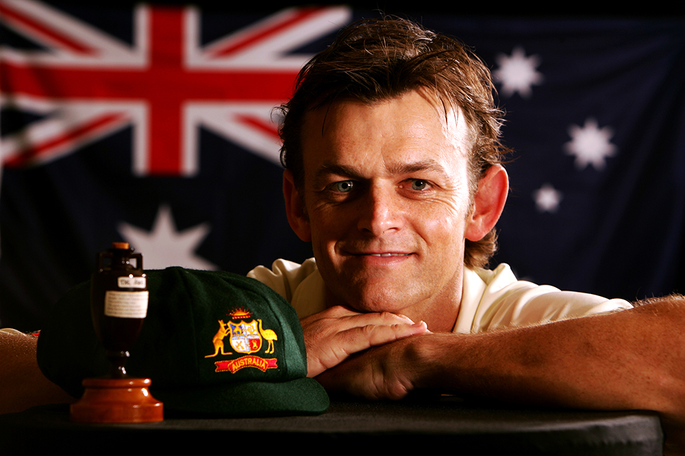 Adam Gilchrist posing with a smile