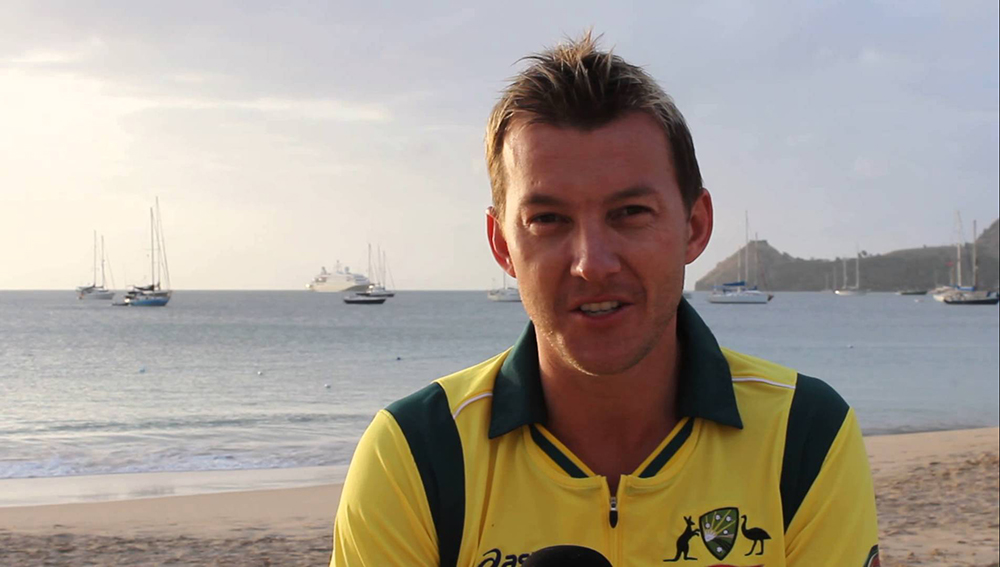 Brett Lee with his charming smile