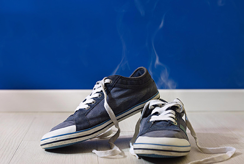 Shoes giving off a bad odour