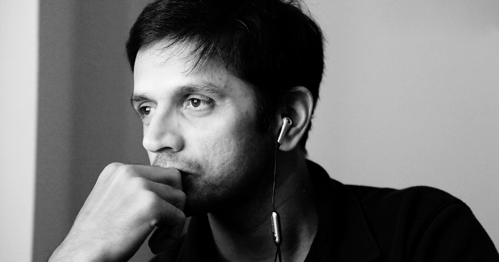Rahul Dravid in his usual cool