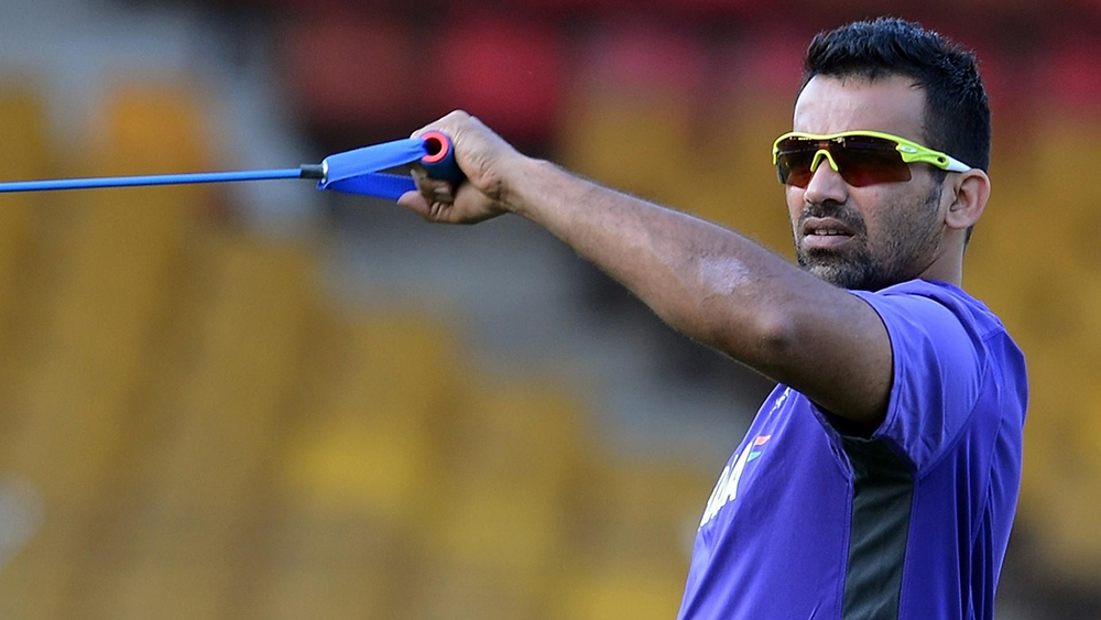 Zaheer Khan working out